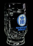 Hofbräu Haus Bier, Bierseidel, Bierkrug, 0,3l Logo weiß älteres Modell