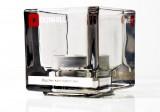 Dunhill Tabak, Glas Windlicht aus Rauchglas mit Teelicht