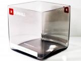 Dunhill Tabak, XXL Glas Windlicht aus Rauchglas