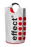 Effect Energy, Umwelt Pfandtasche, Wäschesammler Edelstahlgriffe Weiß