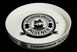 Flensburger Pilsener, Serviertablett, Rundtablett, Kellnertablett, weiß Flens