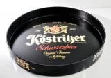 Köstritzer Schwarzbier, Serviertablett, Rundtablett, Kellnertablett, schwarz