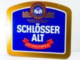 Schlösser Alt Bier, Echt Glas Werbeschild aus älteren Zeiten. Rarität!!