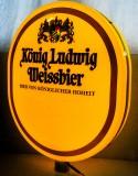 König Ludwig Weissbier, XXXL LED Leuchtreklame, Leuchtwerbung für Aussen / Innen
