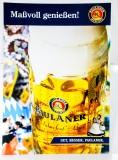 Paulaner Weissbier, XXL Werbeschild aus klarlackglasierter Pappe