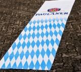 Paulaner Weißbier Hiss Flagge / Banner / Fahne / Vertikalfahne, weiße Ausührung