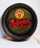 Budweiser Bier, Faßboden Leuchtreklame, Leuchtwerbung Budvar