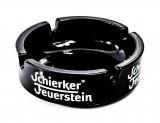 Schierker Feuerstein Likör, Glas Aschenbecher, kleine schwarze Ausführung