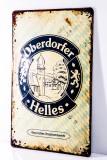 Oberdorfer Helles Weissbier, Blechschild, Werbeschild gewöllbt Brauhandwerk