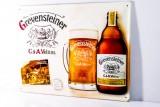 Grevensteiner Bier, Blechschild, Werbeschild gewölbt Grevensteiner