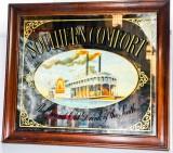 Southern Comfort Whisky, XXL Werbespiegel in Echtholzrahmen Mississippi
