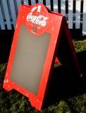 Coca Cola, Kundenstopper, Straßenaufsteller, Kunststoff, Coca Cola