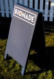 Bionade Limonade, Kundenstopper, Straßenaufsteller, Echtholz, Bionade