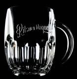 Pilsener Urquell Bierkrug, Bierglas, Seidel, Krug, 0,5l Tankard  Bodenprägung
