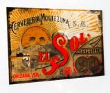 Sol Bier, Limitierter randloser Werbespiegel Cerveceria Moctezuma