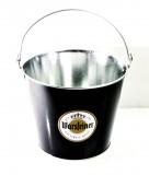 Warsteiner Bier, Schwarz lackierter Eiseimer, Eiswürfelbehälter, Flaschenkühler