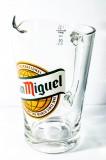 San Miguel Bier, Glaskaraffe, Pitcher, 1,5l, Glaskrug, San Miguel Espania