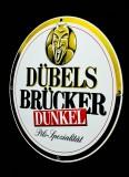 Dübelsbrücker Bier Emaile Werbeschild, Blechschild Dunkel gr. Ausführung