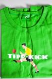 Kraft Tipp-Kick T-Shirt, grün in L mit Logo OVP NEU