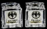 Bacardi Rum 2 x LED Leucht Acryl Eiswürfel, Leuchteiswürfel, Batterien leer