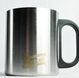 Kraft Sammel-Thermobecher Miracoli in gebürstetem Edelstahl, sehr hochwertig!