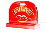 Baileys Creme Likör, Kartenaufsteller, Tischaufsteller Listen to your Lips