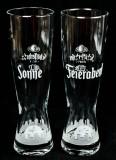 Schöfferhofer Weizenbier, Gläser, Gläserset Sonne / Feierabend 0,5l Sondereditionsset