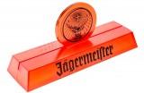 Jägermeister Likör, Tischaufsteller, Kartenaufteller Rudi Orange