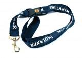 Paulaner Weißbier, Schlüsselband, Lanyard 57cm dunkelblau Paulaner