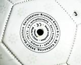 Gerolsteiner Wasser, Fußball mit Ballpumpe, Luftpumpe, weiße Ausführung, Gr.5