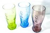 Coca Cola, 3 x Coke Relief Retro Gläser im Set 0,3l, 3 farbig