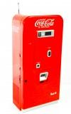 Coca Cola, Original 80er Jahre Retro Radio mit Kassettendeck Kühlschrank