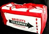 Wrigleys Spearmint Chewing Gum, XXL Sporttasche, Reisetasche, sehr selten...