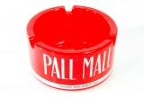 Pall Mall, Sehr massiver Glasaschenbecher rot transparent World tasting better