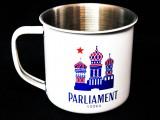 Parliament Vodka, Desing Edelstahl Weiß Metallic Becher, Tasse, sehr edel...