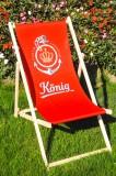 König Pilsener Bier, Liegestuhl / Strandliege / Klappstuhl Der KÖNIG