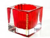 Piper Heidsieck Champagner, Massives Windlicht im Kristallglas