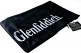Glenfiddich Whisky, Kellnerschürze mit Einschlitz für Taschen und Extra Tasche, schwarze Ausführung im Relief