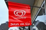 Langnese Eis Fahne, Flagge, Banner, JETZT EIN EIS ohne Halterung