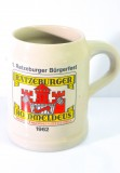 Rommeldeus, Ratzeburger Bier, Bierkrug, Tonkrug Editionskrug Bürgerfest 1962