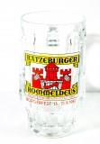 Rommeldeus, Ratzeburger Bier, Bierkrug, Glaskrug 0,4l Brauerei Abzug