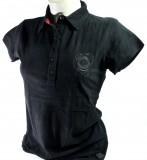 Jim Beam Whisky, Polo T-Shirt, Women, Gr. S,  Logo hinten im Relief, schwarz