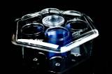 Glashäger Wasser, Durchsichtiger Acryl  Flaschenkühler Konferenzkühler mit Kühlakku für 0,1l ind 0,2l