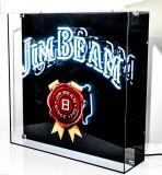 Jim Beam Whisky, XXXL Neon Leuchtreklame, Leuchtwerbung in Acrylkasten, sehr seltene Ausführung!!