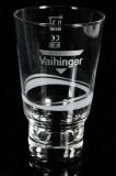 Vaihinger Saft, Niehoffs Longdrinkglas, Cocktailglas 0,3l grau satiniert mit Chromveredelung