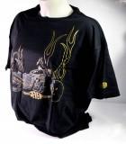Jever Bier, T-Shirt Bikershirt Goldschwarz Größe XL
