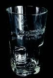 Moskovskaya Vodka, Massives Longdrinkglas, Stapelglas im Relief Design 2cl / 4cl