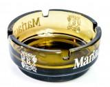 Mariacron Weinbrand, Massiver Glas Aschenbecher mit schweren Fuß, braune Ausführung