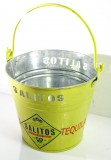 Salitos Bier, Eiswürfelbehälter, Eiswürfeleimer verzinckt, grüne Ausführung