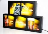 Jack Daniels Whisky, USA Neon 3D Leuchtreklame, Leuchtwerbung Jack & Coke